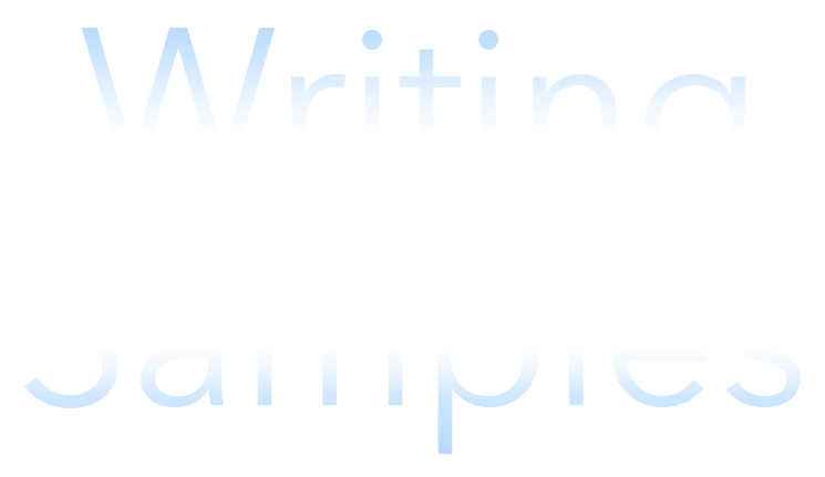 Title for Writing Samples page
